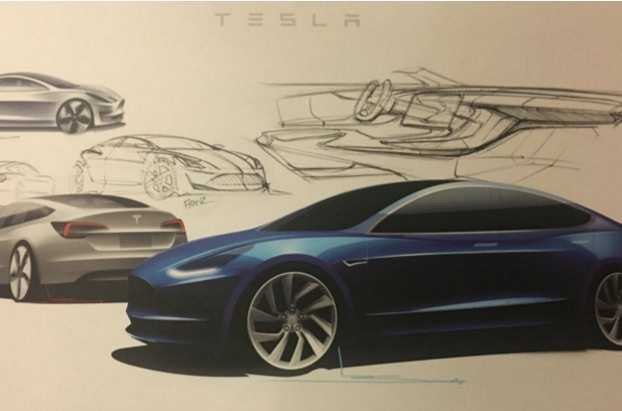 mock up of the Model 3