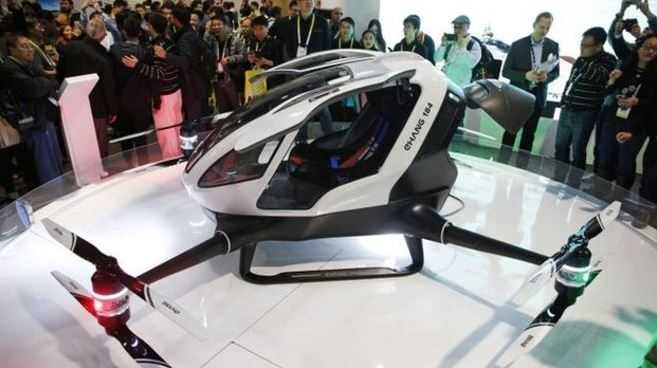 e personal minicopter was shown off at the Consumer Electronics Show in Las Vegas